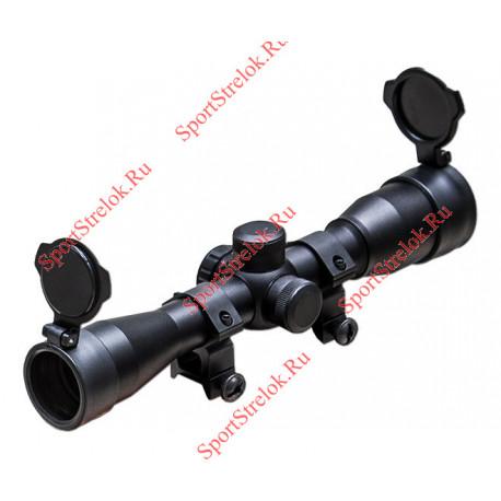 Прицел для арбалета оптический 4x32 с арбалетной шкалой и заглушками