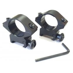 Кольца для оптического прицела на планку вивер
